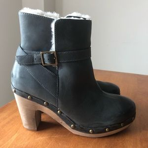 ALDO Fleece Lined Studded Clog Ankle Boots sz 38/8